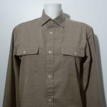 Chemise 100% Coton Avec Ses Manches Longues Vert Clair-Taille S-Monoprix Homme