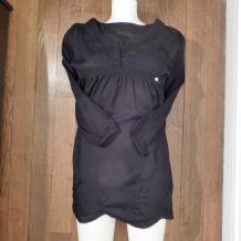 Robe Fille Noir en 100% Viscose, Dentelle et Broderie -Taille XS (12 ans)- IKKS