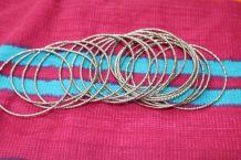 lot bracelets  rond effet argente vintage