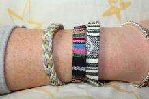lot bracelets hippie africain effet argente