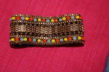bracelet hippie aiment perle effet dore