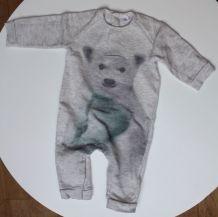 Combinaison mixte Zara ours polaire 3-6mois