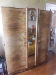 Armoire ancienne 2 portes + miroir