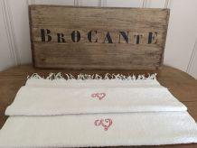 Ensemble de 2 serviettes de toilette brodées avec monogramme
