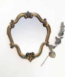 Miroir doré ancien 50's