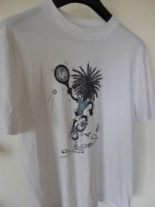Tee-shirt blanc (L) neuf du COQ SPORTIF collector (TBE)