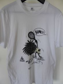 Tee-shirt blanc (XL) neuf du COQ SPORTIF collector (TBE)
