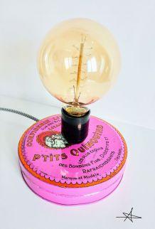 """Lampe vintage, lampe d'ambiance, lampe de chevet - """"Les p'tits Quinquins"""""""