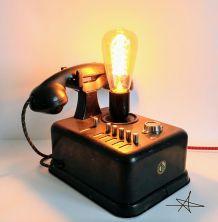 """Lampe industrielle, lampe vintage - """"Big Black Phone'"""""""