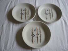 3 assiettes creuses Tiffany Italy