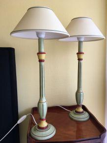 Paire lampes table ou chevet