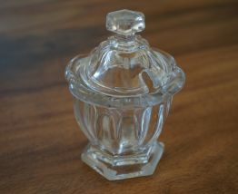joli moutardier vintage en verre