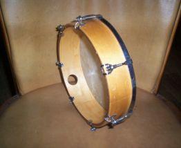 ancien tambourin bois metal et peau