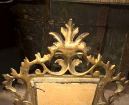 cadre miroir en bronze