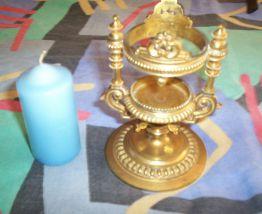 BOUGEOIR METAL doré ciselures et relief luxe style empire
