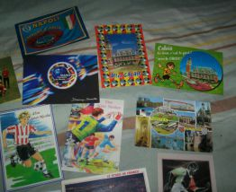 lot cartes postales et papiers pub s sur foot-ball