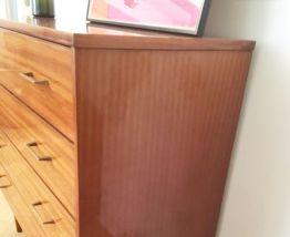 Commode vintage scandinave pieds compas 70s