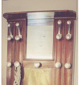 Ancien vestiaire en bois