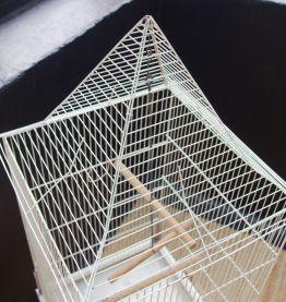 Cage à oiseaux ancienne blanche