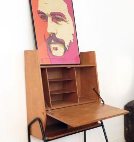 Secretaire bureau design vintage style Pierre Guariche 70s