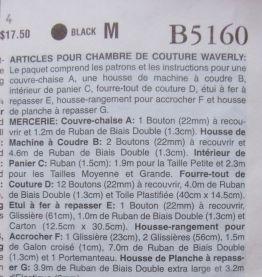 Pochette couture de 7 patrons déco et rangement complète et neuve en français et anglais