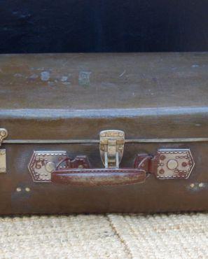 Valise vintage marron années 50