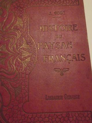 tres ancien livre sur la vie des paysans 1923