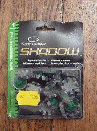 1 Set 20 Crampons De Golf Gris/Vert-Softspikes- Shadow- Fast Twist-12E0T2K- Neuf