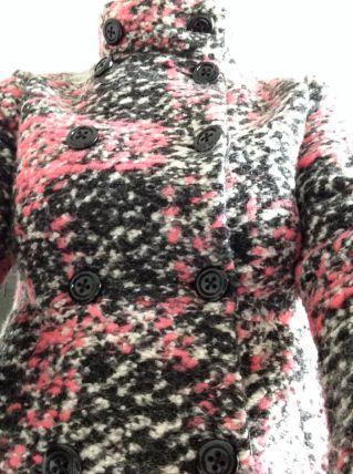 Magnifique veste 3/4 style Chanel rose et grise