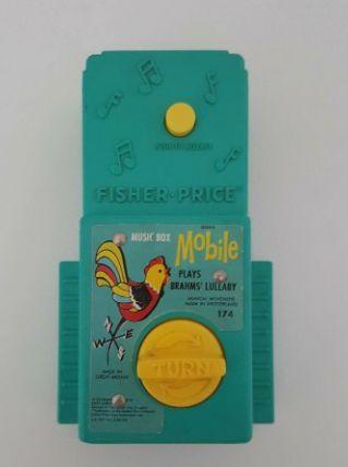 Boîte à musique pour mobile Fisher Price vintage