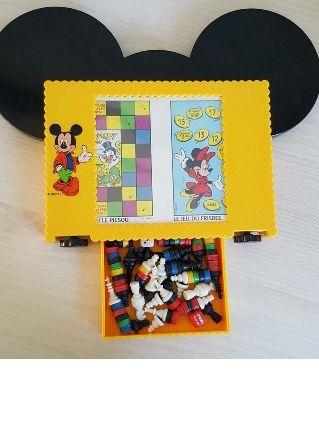 Plateau de jeu de voyage Mickey vintage