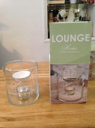 2 Photophores en verre avec support bougie