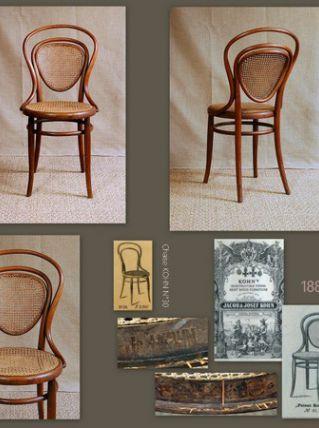 Chaise bistrot viennoise J&J KOHN N°41 1885 ca - Style Thonet