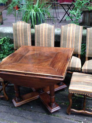 Table à manger bois massif avec 6 chaises
