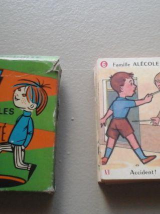 Jeux de 7 familles ancien 60's sécurité cartes