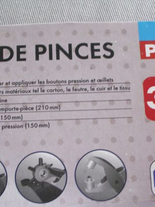 Lot perforatrice Set de pinces et boutons pressions