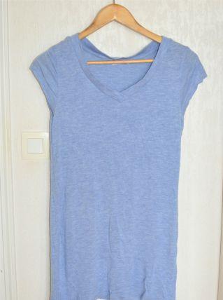 T-shirt long bleu chiné H&M - Taille M
