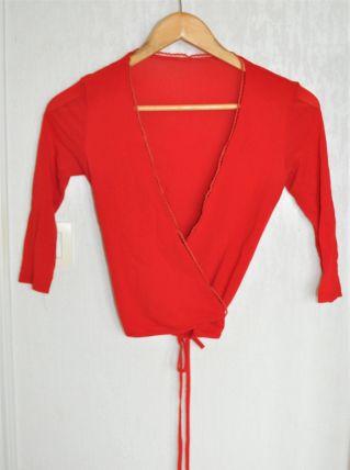 Cache-cœur rouge - Taille S