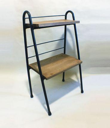 Petite étagère 60s métal et bois
