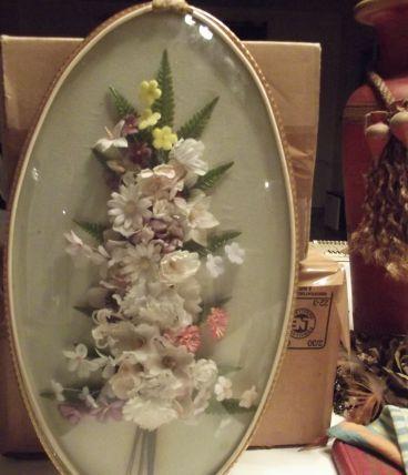 fleurs sous cadre vinage