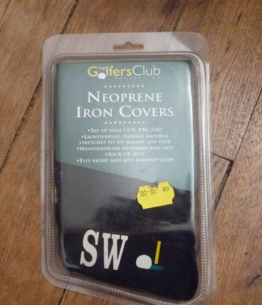 Golf-SET Couvre Fers-Neoprene iron covers-Neuf- set 3-9,PW,SW- The Golfers Club