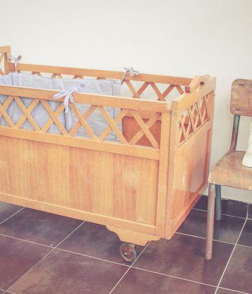 Ancien lit roulotte