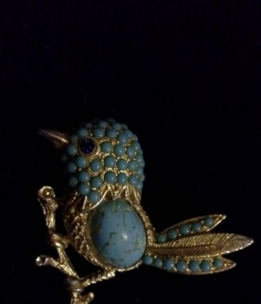 Jolie broche Oiseau Vintage 50/60