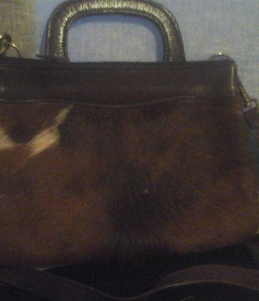sac en peau de chevre et cuir