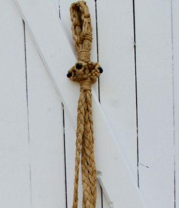 Suspension vintage macramé et perles