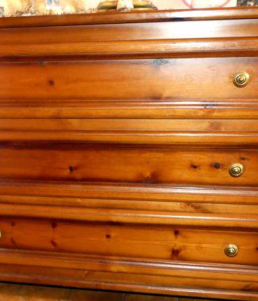 Commode 3 tiroirs chêne massif