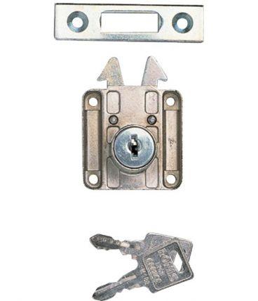 Serrure de meuble à crochets RONIS - Réf 6900-01 - Portes coulissantes / rideaux
