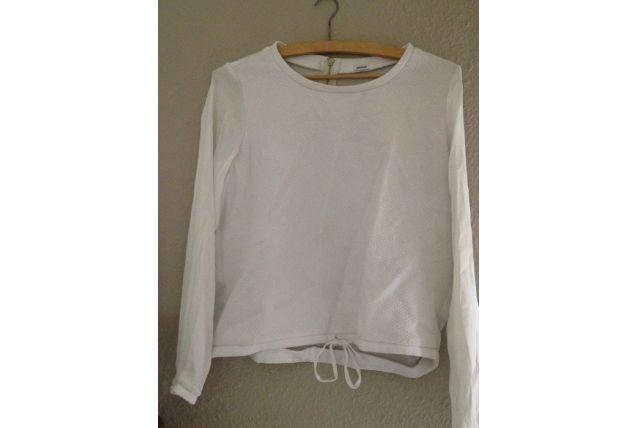 tee shirt léger blanc manches longues