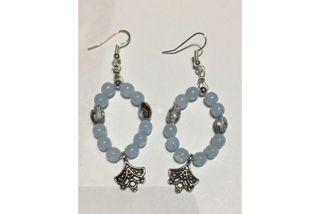 Boucles d'oreilles perles de verre