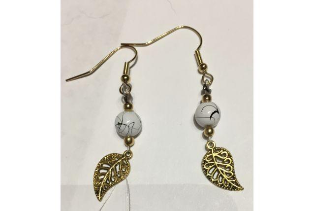 Boucle d'oreilles perles de verre